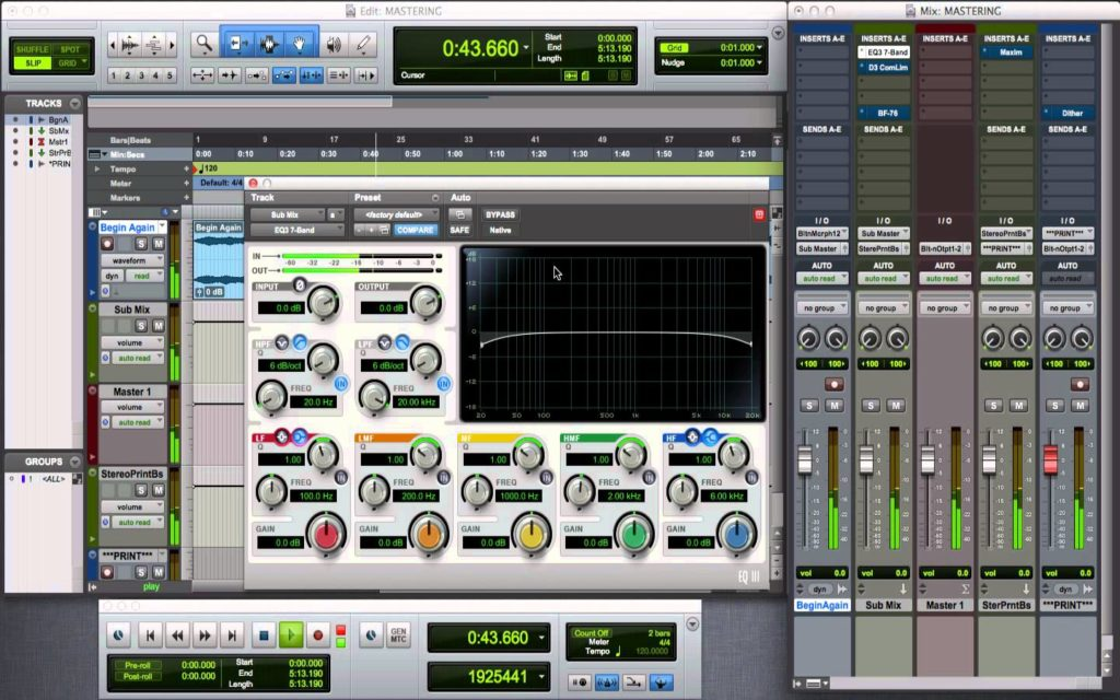 Protools and EQ III